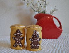 Salt and Pepper Shakers, Vintage Christmas, Holiday Decor