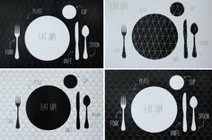 printable place setting - teaching to set the table