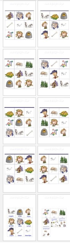 Bingo van Hans en grietje aangepast Esl, Logo, School, Jack And Jill, Logos, Environmental Print