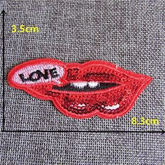 FairyTeller New Arrivals To Be Listed Red Lip Patch Hot Melt Adhesive Applique Embroidery Patch Diy Clothing Accessory Patch 1Pcs C459-C2059 *** See this great item.