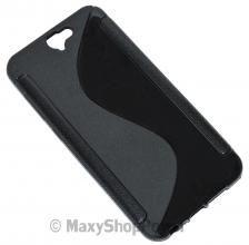 SSYL CUSTODIA SILICONE S-LINE COVER TPU BACK GEL CASE HTC ONE A9 BLACK NERO - SU WWW.MAXYSHOPPOWER.COM