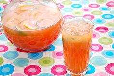 Summery Fruit Punch. perfect! have everything here including leftover pineapple juice from canned pineapple rings for hawaiian toast.