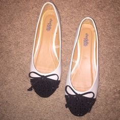 Never been worn flats! Black and white Charlotte Russe flats! Never been worn!! Charlotte Russe Shoes Flats & Loafers