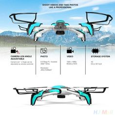 92.23$  Buy now - http://alikei.worldwells.pw/go.php?t=32766696366 - K80 4CH 6 Axis Gyro FPV RC Quadcopter 2.0MP Record Speed Switching Drone