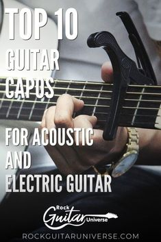 If you still don't have a guitar capo and wish to play certain guitar songs that require one, then check these top 10 guitar capos for acoustic/electric guitar #guitar #accessories #capo Guitar Tips, Guitar Songs, Guitar Lessons, Acoustic Guitar Accessories, Types Of Guitar, Guitar For Beginners, Could Play, Classical Guitar, Music Theory