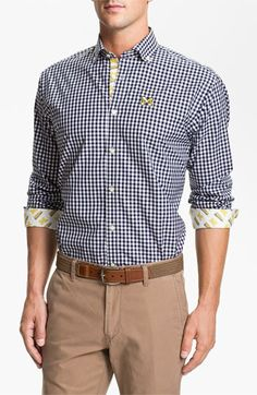 March Madness style: University of Michigan gingham shirt | Nordstrom