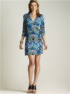 Laundry printed Jersey Wrap Dress (Laundry 074261000), Women Daytime Dresses Daytime Dresses