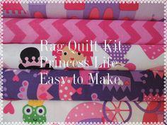 Rag Quilt Kit, Easy to Make, Princess Life, Premium Designer Fabrics