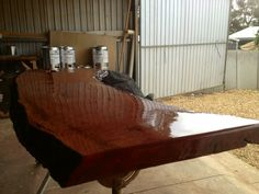 Varnished solid piece of redgum Solid Pine Furniture, Four Square, Wine, Table, Home Decor, Homemade Home Decor, Tables, Interior Design, Home Interiors