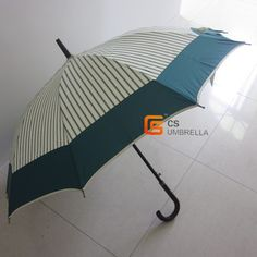 Pongee fabric straight umbrella with piping