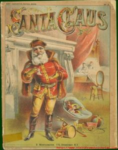 Gilded Age NYC - R. Worthington - 770 Broadway, NY - Santa Claus, Picture Book c.1880