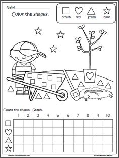 Free Math Shapes Graph for Earth Day
