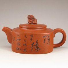 Handmade Chinese Yixing Zisha Clay Teapot Artist Signed : Lot 53