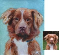 Toffee the dog, acrylic on canvas. www.artyana.co.uk