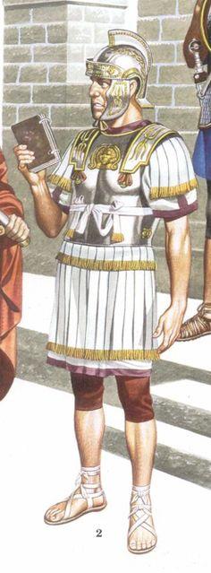 Orden de Batalla. Historia Militar: Las Legiones Romanas. Organización y Rangos. Tribuno Angusticlavio.