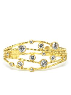 Gold Hammered Multi-Row Cuff by Kevia on Gilt.com $69