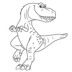 t rex dinosaur coloring pages for printable free