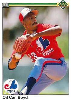 "Dennis ""oil can"" Boyd - Montreal Expos Upper Deck Major League Baseball Teams, Baseball Uniforms, Baseball Players, Expos Montreal, Expos Baseball, Old Baseball Cards, Sports Figures, National League, Sports Stars"