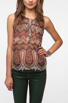 Urban Outfitters - Ecote Tapestry Blouse $49.00