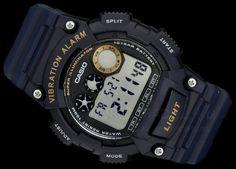 0907714df43 ZEGAREK MĘSKI CASIO W-735H-2A WIBRATION ALARM 100M 100m