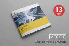 Brochure Mock-up / Square by Ahmad Muradi on @creativemarket