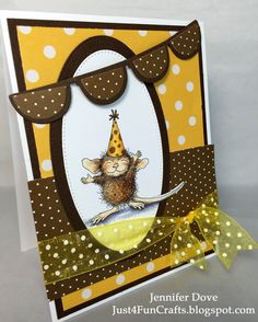 How about a moment to celebrate? This little cutie is ready for a party! I think I will join in on the fun. This is the 2nd card for the...