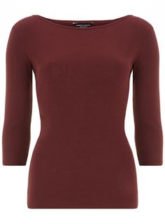 Mulberry 3/4 sleeve slash top
