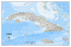 Cuba Classic Wall Map