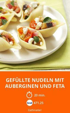 Gefüllte Nudeln mit Auberginen und Feta - smarter - Kalorien: 471.25 kcal - Zeit: 20 Min. | eatsmarter.de