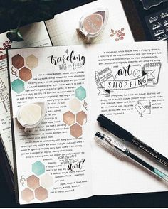 """loverssweets: """" • Beautiful bullet journal, one of my inspirations to customize an agenda or a journal loved. • """""""