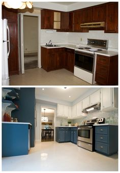 Why replace perfectly good cabinets when you can paint them? If you use a sprayer it will look professional and no one will ever know it was a DIY… This is a project from an episode of #IncomeProperty and we saved the homeowner a ton of money by doing this