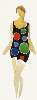 """Sonia Delaunay made clothes for private clients and friends, and in 1923 created fifty fabric designs using geometrical shapes and bold colours. She started her own business and """"simultané"""" became her registered trademark. Sonia Delaunay, Robert Delaunay, Textile Design, Fabric Design, Mobile Art, Art Story, Registered Trademark, Textiles, Magic Art"""