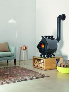 Bullerjan Free Flow 2014 Typ 00 Glas/ Mini Wood Stove, Wood Stove Hearth, Wood Pellet Stoves, Adobe House, Earth Homes, Fire Pit Backyard, Rustic Design, Home Projects, Building A House