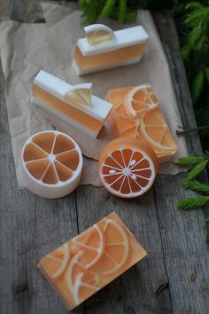 Beautiful citrus handcrafted soap designs!