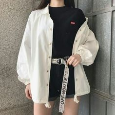 summer outfits ulzzang girl korean kfashion 얼짱 casual clothes street everyday comfy aesthetic soft minimalistic kawaii cute g e o r g i a n a : c l o t h e s Kpop Outfits, Edgy Outfits, Mode Outfits, Fashion Outfits, Fashion Ideas, Fashion Belts, Korean Outfits Kpop, Womens Fashion, Grunge Outfits