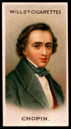 https://flic.kr/p/7rEnyh | Cigarette Card - Frederic Chopin | Wills's Cigarettes, Musical Celebrities A Series, 1912. #12 Frederic Chopin 1809-1849