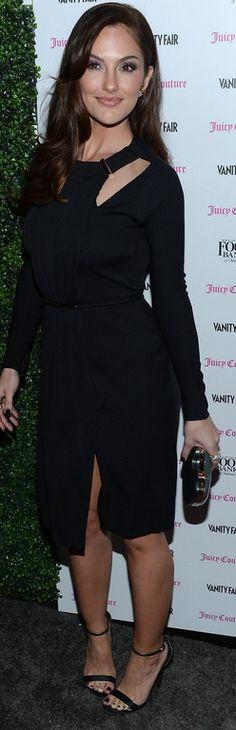 Dress – Gucci    Shoes – Sergio Rossi    Purse – Fendi    Jewelry – Tiffany & Co.