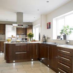 Walnut kitchen | Kitchen design | Decorating ideas