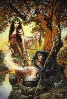 The Triple Goddess Art Print Briar Wiccan Art Maiden Mother Crone Maiden Mother Crone, Mother Goddess, Pagan Art, Bild Tattoos, Celtic Mythology, Goddess Art, Goddess Pagan, Winter Goddess, Pagan Gods