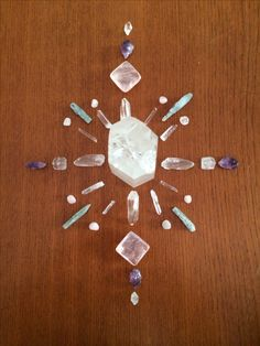 Crystal Grid ❤️ ~ Made with Clear Quartz, Rose Quartz, Amethyst, Herkimer Diamonds, Apophyllite and Ocean Kyanite ❤️