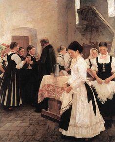 Csók, István (1865-1961) - Holy Communion, 1890
