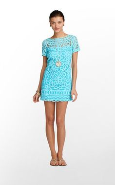 Mariekate Dress in Shorely Blue Go To Batt $378 (w/o 5/12/12) #fashion #style #lillypulitzer