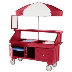 Cambro Camcruiser CVC72158 Hot Red Vending Cart