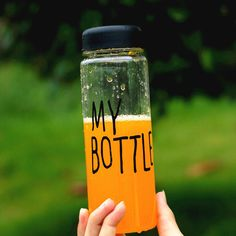 My Bottle 500 ml With Gift Bag Plastic Water Bottle Sport Lemon Juice Circle Clear | worth buying on AliExpress