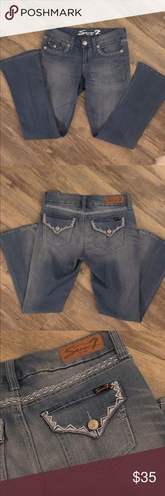 7 for all mankind embellished jeans Made with a soft denim and have some stretch to them 7 For All Mankind Jeans