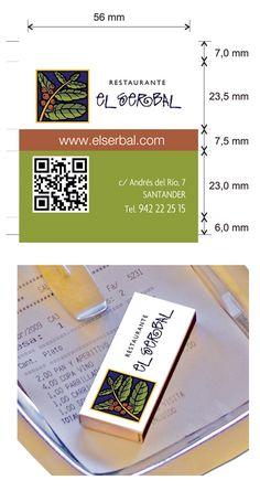 Propuesta diseño cajas de cerillas para el restaurante El Serbal en Santander. Money Clip, Match Boxes, Proposals, Restaurants, Money Clips