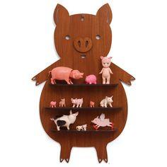 Wooden Piggy Shadow Box