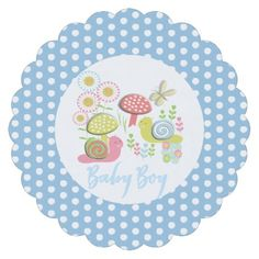 Whimsy Fairy-tale Spring Garden Baby Boy Shower Paper Coaster - toddler youngster infant child kid gift idea design diy