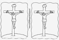 Η ΣΤΑΥΡΩΣΗ ΤΟΥ ΙΗΣΟΥ - Κατασκευές ~ Los Niños Easter Religious, He Is Risen, Easter Printables, Easter Crafts, Catholic, Religion, Projects, Blog, Yoga Pants