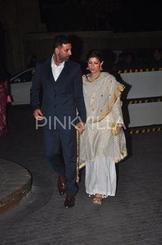 Akshay Kumar and Twinkle attend Tejas - Rriddhi's wedding reception | PINKVILLA